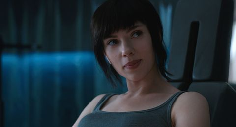 Scarlett Johansson sexy in Ghost in the Shell