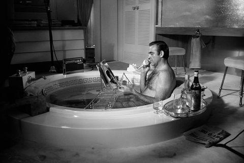 Sean Connery in the bath