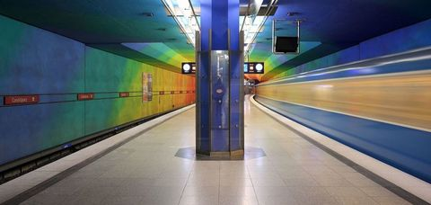 "<p>Bright and cheery colors&nbsp;highlight the Candidplatz Station on Munich's U-Bahn. Named after the 16th-century Flemish painter, the station&nbsp;blankets every aspect of the station in a never-ending flow color. The modern, bright station is far from the line's only appealing stop. The U-Bahn&nbsp;also features the <a href=""https://en.wikipedia.org/wiki/St.-Quirin-Platz_(Munich_U-Bahn)"" data-tracking-id=""recirc-text-link"">St. Quirin Platz Station</a> with as much natural light as you could dream of while staying underground.<span class=""redactor-invisible-space"" data-verified=""redactor"" data-redactor-tag=""span"" data-redactor-class=""redactor-invisible-space""></span></p>"