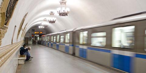 Transport, Metro, Metro station, Building, Subway, Public transport, Train station, Architecture, Ceiling,