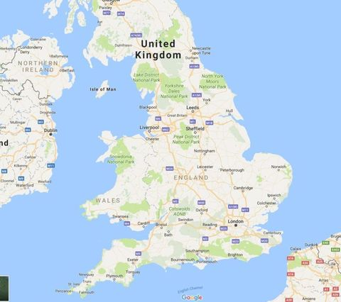 Map Of North England Uk.New Theory Claims England S North South Divide Is In Leicestershire