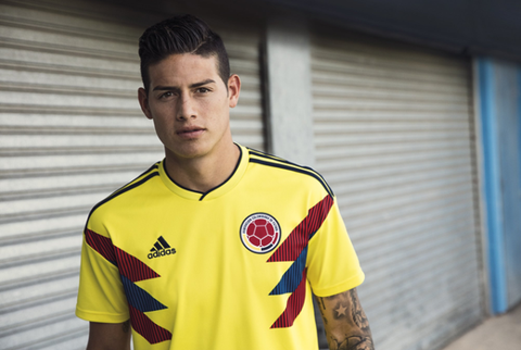 49f7eb72b James Rodriguez   Twitter. In the marketing stills for adidas  latest range  of World Cup football kits ...