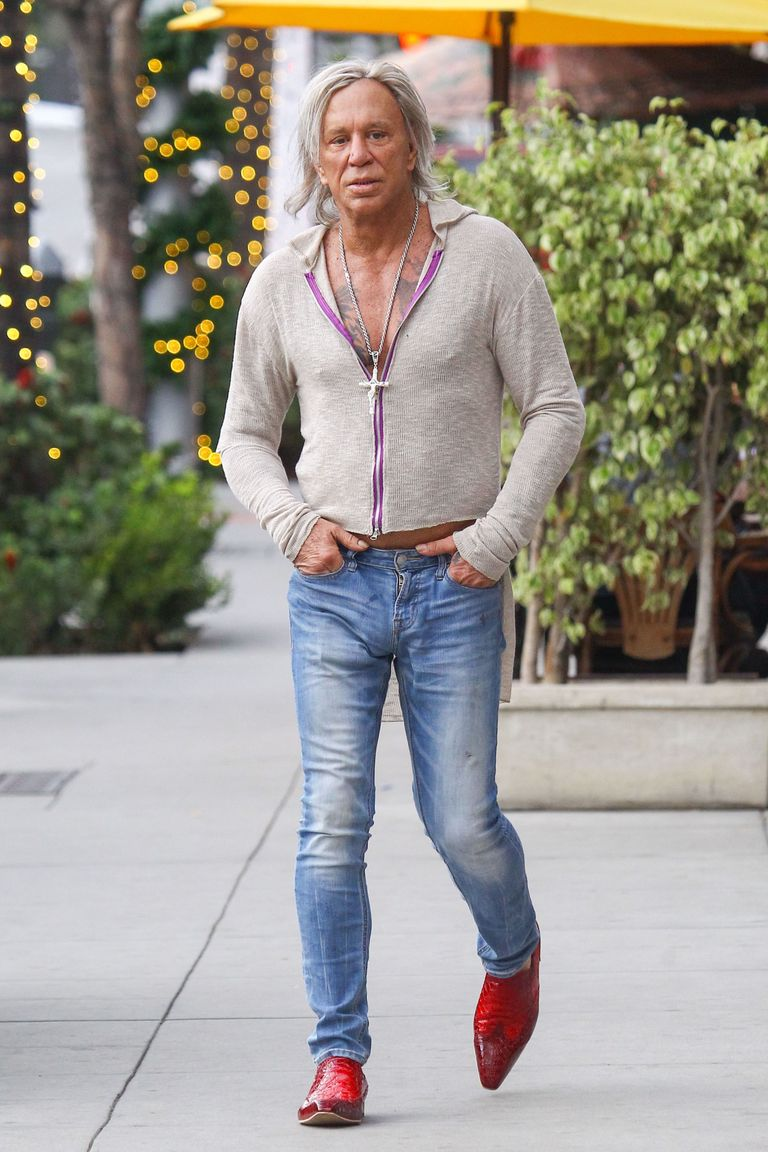 Here S Mickey Rourke In Quite Possibly The Strangest