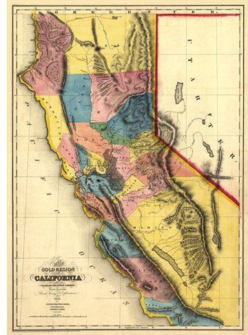 california-gold-region-antique-map-18511