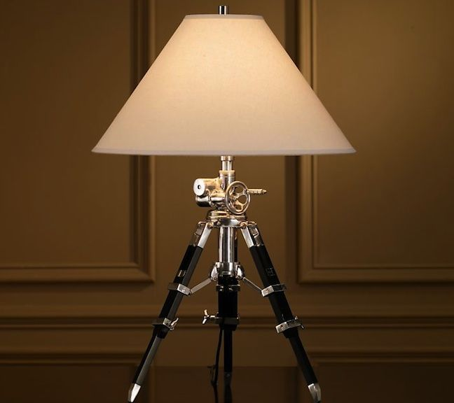 Royal marine tripod table lamp o gear patrol for Royal marine tripod floor lamp antique brass