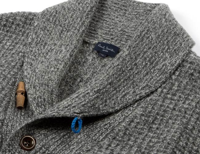 Paul Smith Shawl Collar Waffle Cardigan