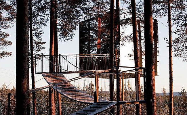 Stay treehotel mirrorcube harads sweden gear patrol for Hotel the mirror