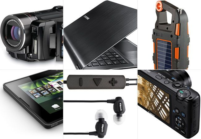 Laptops, included in the backpacking lists