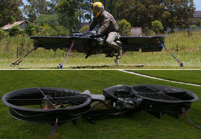 a hoverbike being tested