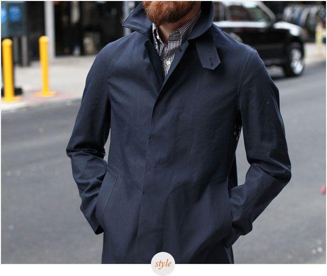Style Pick: Epaulet x Mackintosh Dowanhill Raincoat Navy ...