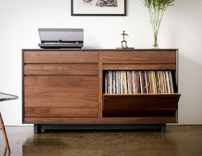 Vinyl Record Cabinet Car Interior Design