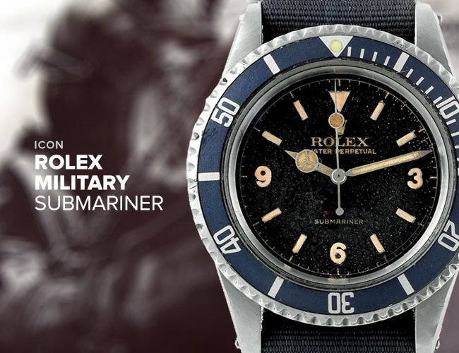 Icon Rolex Military Submariner Gear Patrol