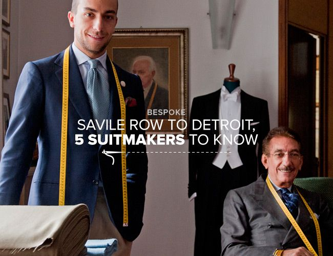 From Savile Row to Detroit, Five Custom Suit Makers to Know