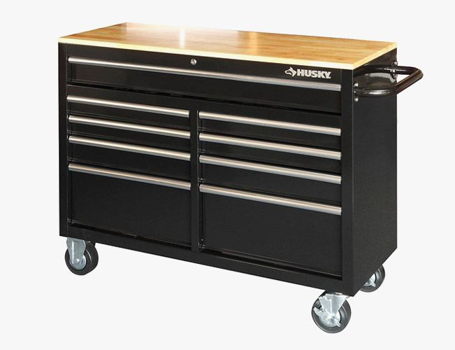 Husky-9-Drawer-Mobile-Workbench-with-Wood-Top-Gear-Patrol-Final