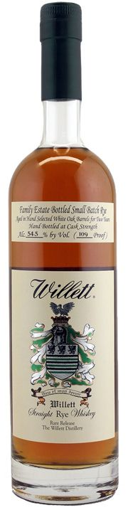 Willett Family Estate Small Batch 2 Year Rye is bottled at cask strength and delicious, crushing preconceptions of what's possible from a mere 24 months of aging.