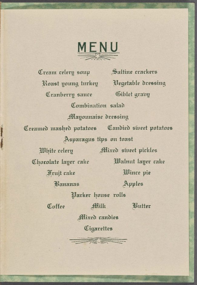 """Christmas, 1929: Still a military prison at the time, Christmas dinner on """"The Rock"""" really doesn't seem too bad."""