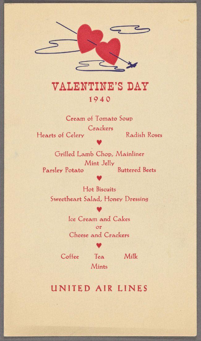 February 14, 1940: Nothing says romance like parsley,  radishes and beets at 25,000 feet.