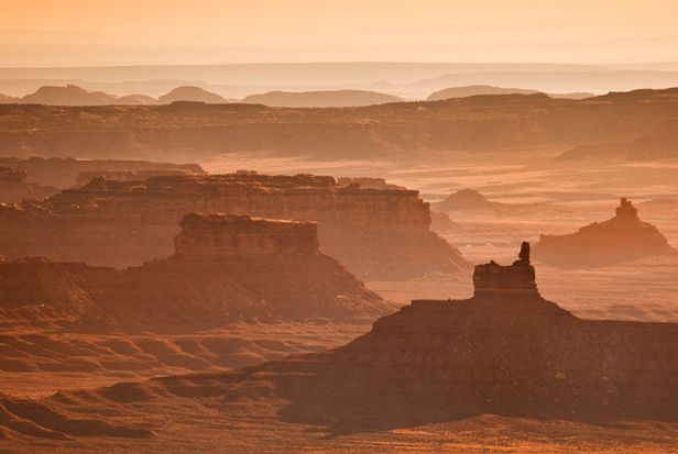 Scenic view Valley of the Gods