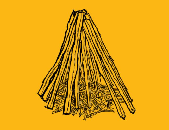American Indian Tepee Sleeping Drawing