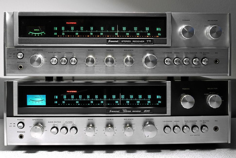 Sansui 771 & 8010. Though technically identical, one was a European version. (1974) All Rights Reserved