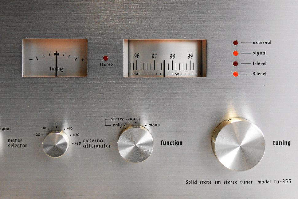 Denon TU 355 Stereo Tuner (1977) All Rights Reserved