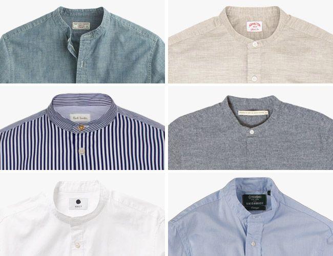 The 10 Best Collarless Button-Up Shirts