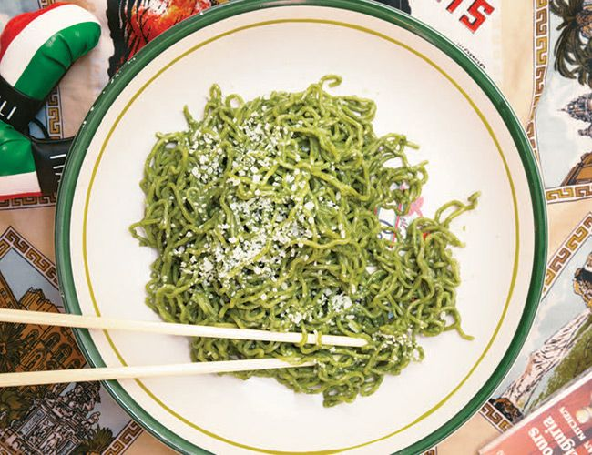 Elevate Your Ramen Game with a Simple Pesto Recipe