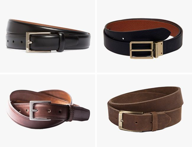 Whether looking for a new match for dress pants and a sports coat or something for an office dress, you can find the belts that work the best. Choose a black dress belt for gray and black suits or a brown belt for tan or brown dress pants and sports coats.