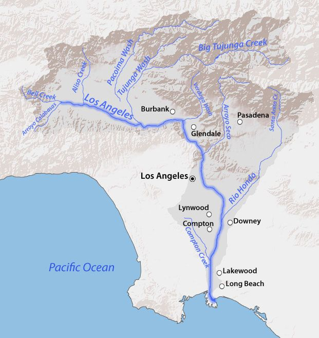 The Los Angeles River Watershed.