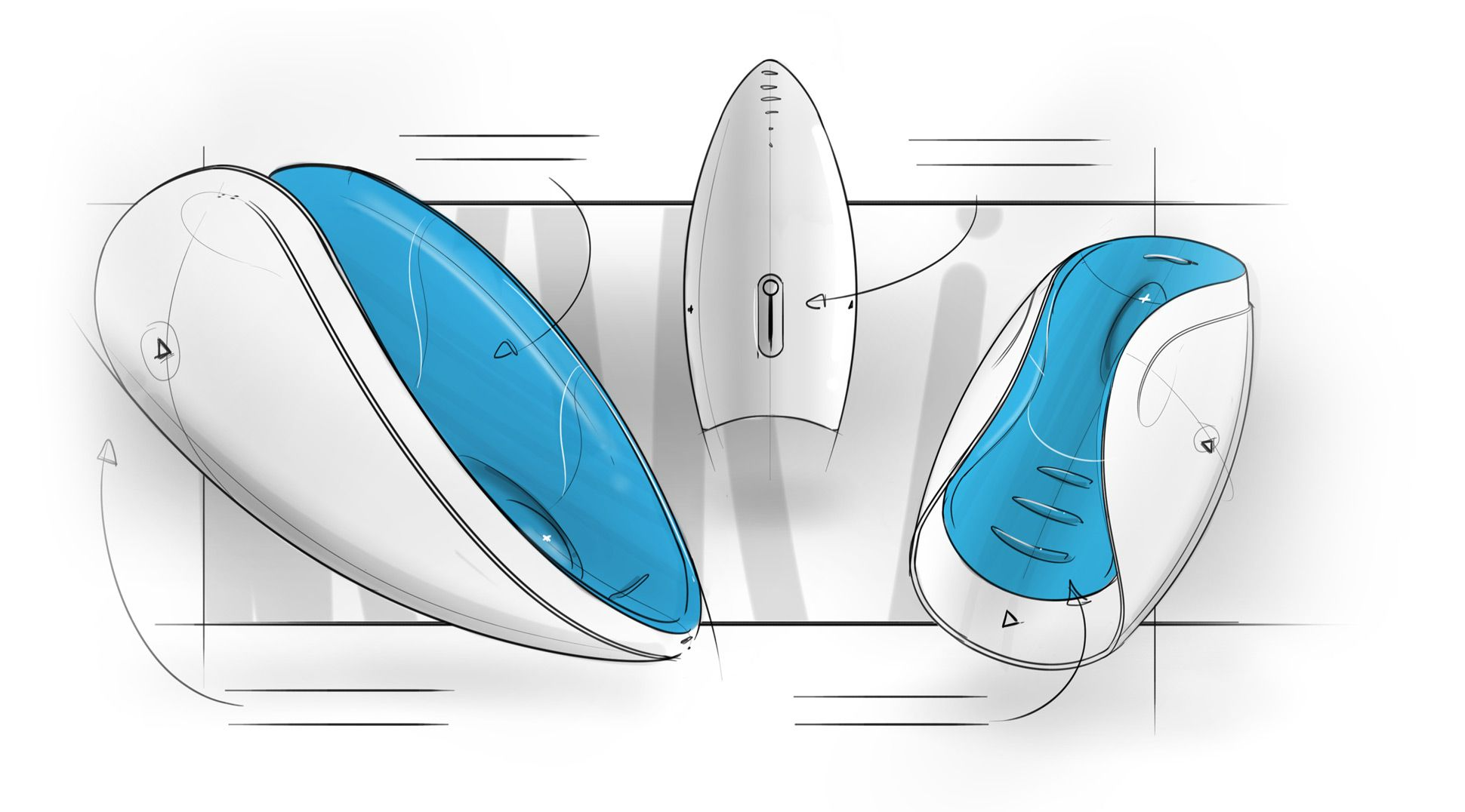 Early concept drawings for the Pulse 2 Duo.