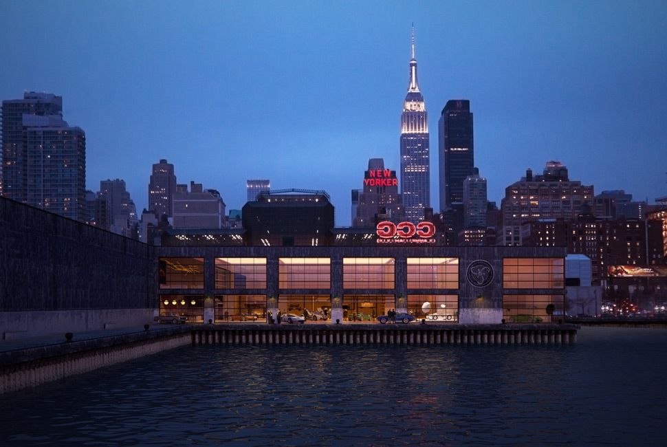 A rendering of CCC's future waterfront presence. Neons included.
