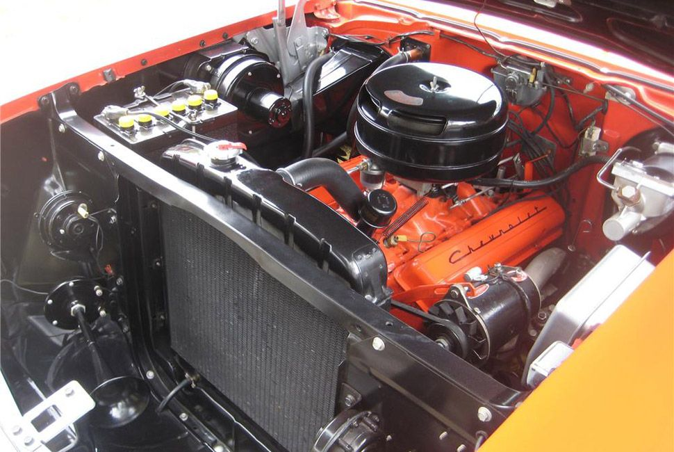 Even with a 4.7-liter V8, there's still enough room to fall in on either side.
