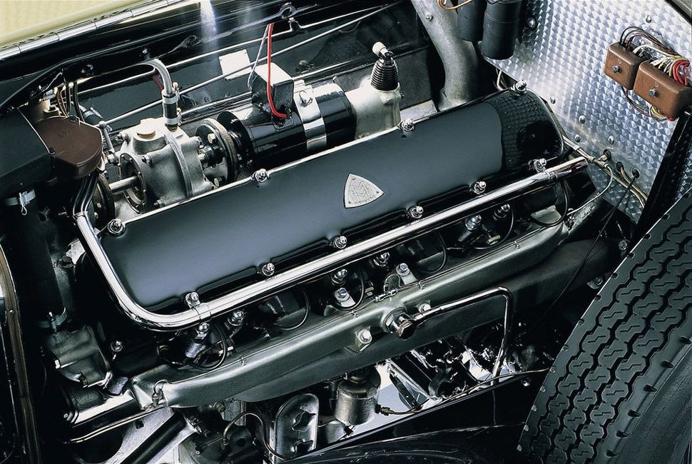 Even the engine was given a luxurious amount of space.