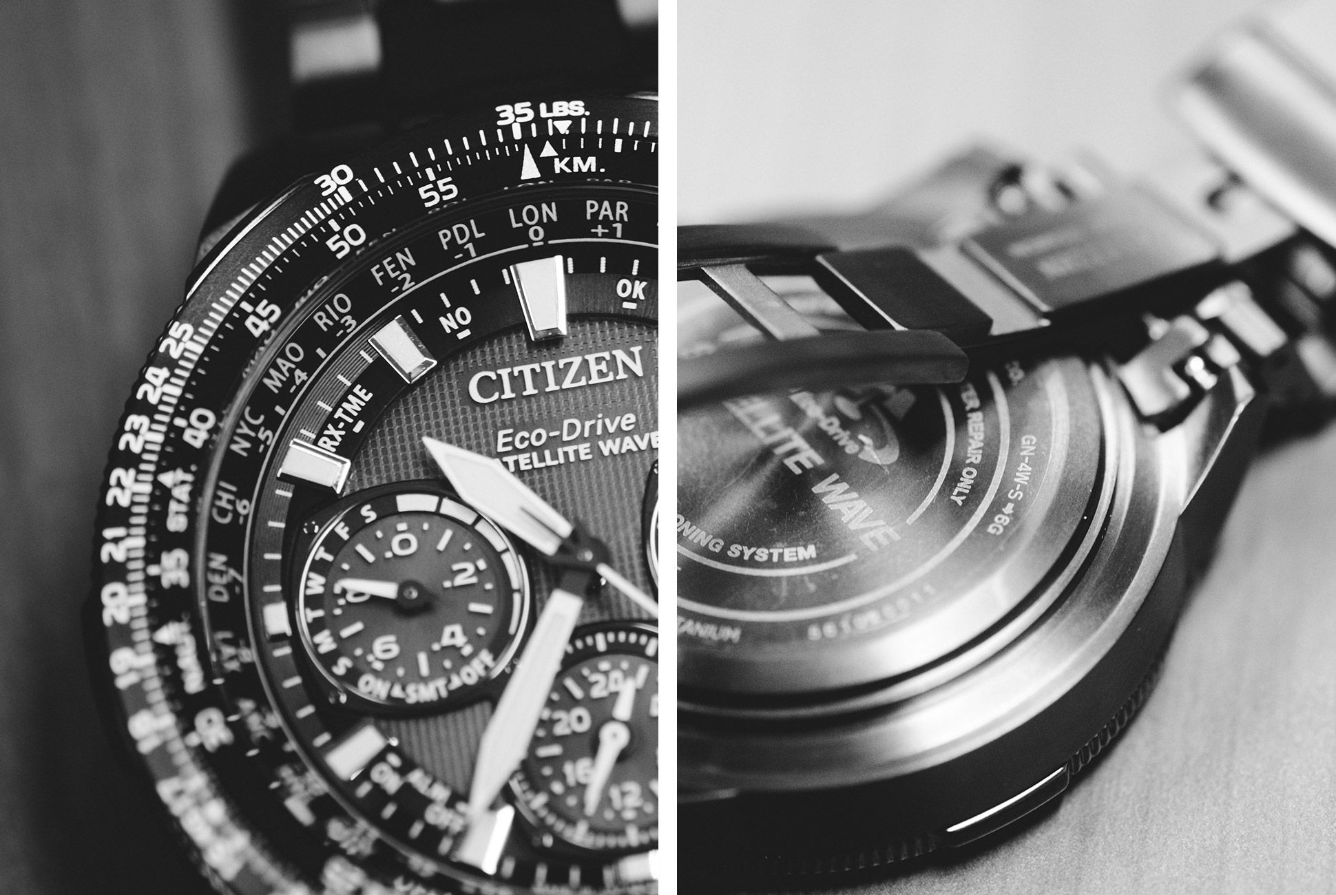 Citizen's unique Satellite Wave technology keeps accurate time across all 40 standard UTC timezones. It takes 3 seconds to sync and lock with a satellite signal.