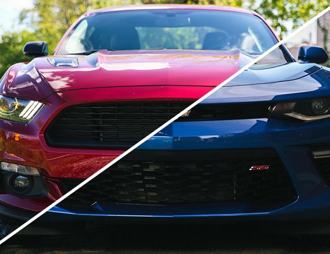 review 2016 mustang gt and 2016 camaro ss gear patrol. Black Bedroom Furniture Sets. Home Design Ideas