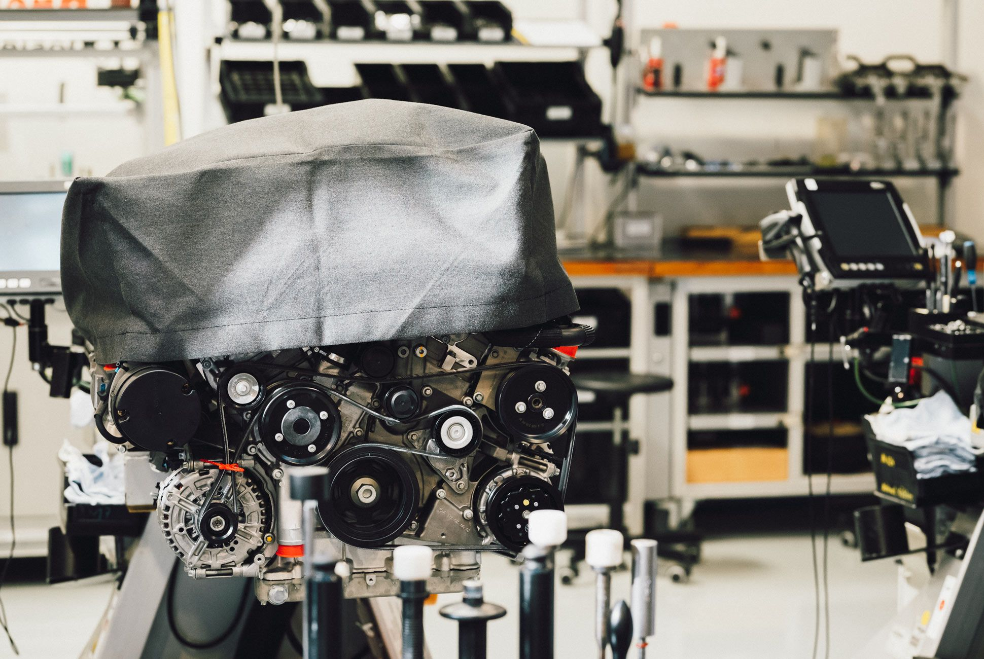 AMG's engine factory is also responsible for making Pagani's 6-liter twin-turbo V12 that will end up producing 730 horsepower when bolted in the back of the Huayra.