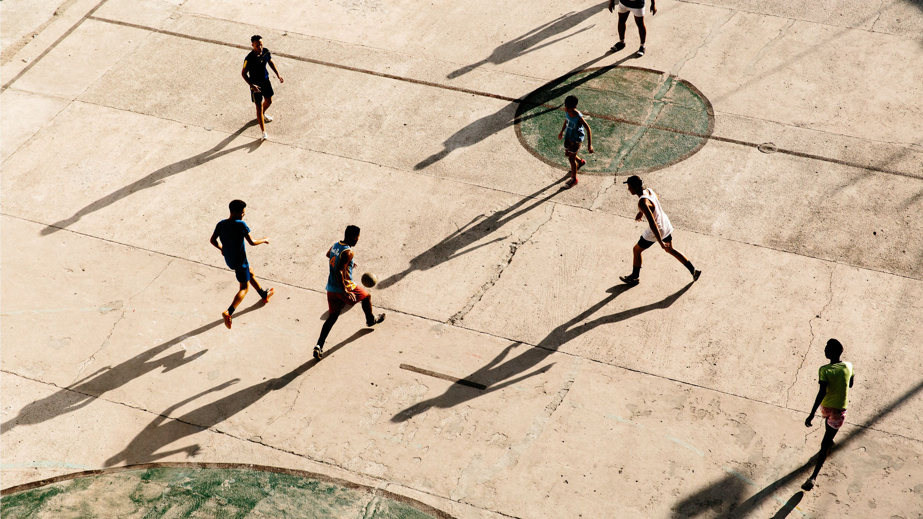 Pick-up soccer in Havana. Soccer's experiencing a long-awaited popularity in Cuba thanks largely to World Cups and European leagues being broadcast on the island. (Photo: Emiliano Granado)