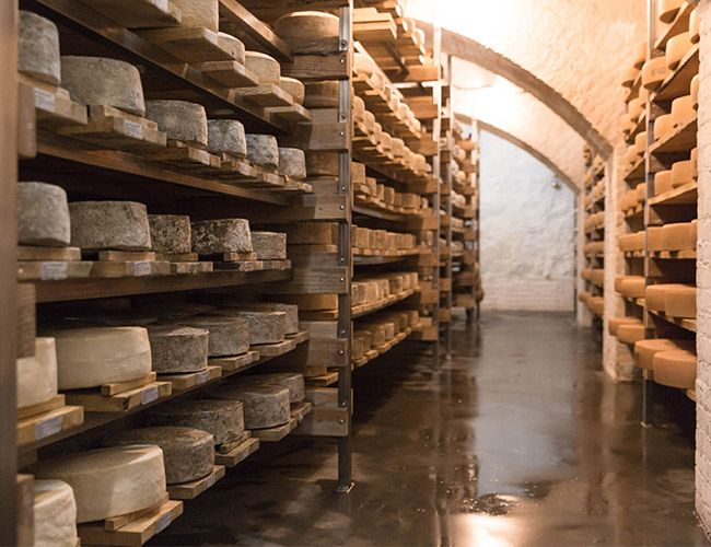 How an Old Brewery Became Home to 25,000 Pounds of Cheese
