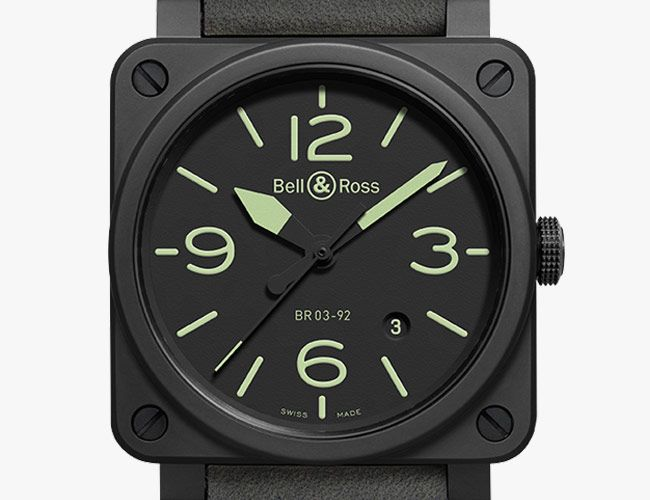 Bell & Ross's Iconic Square Watch Gets a New All-Black Colorway
