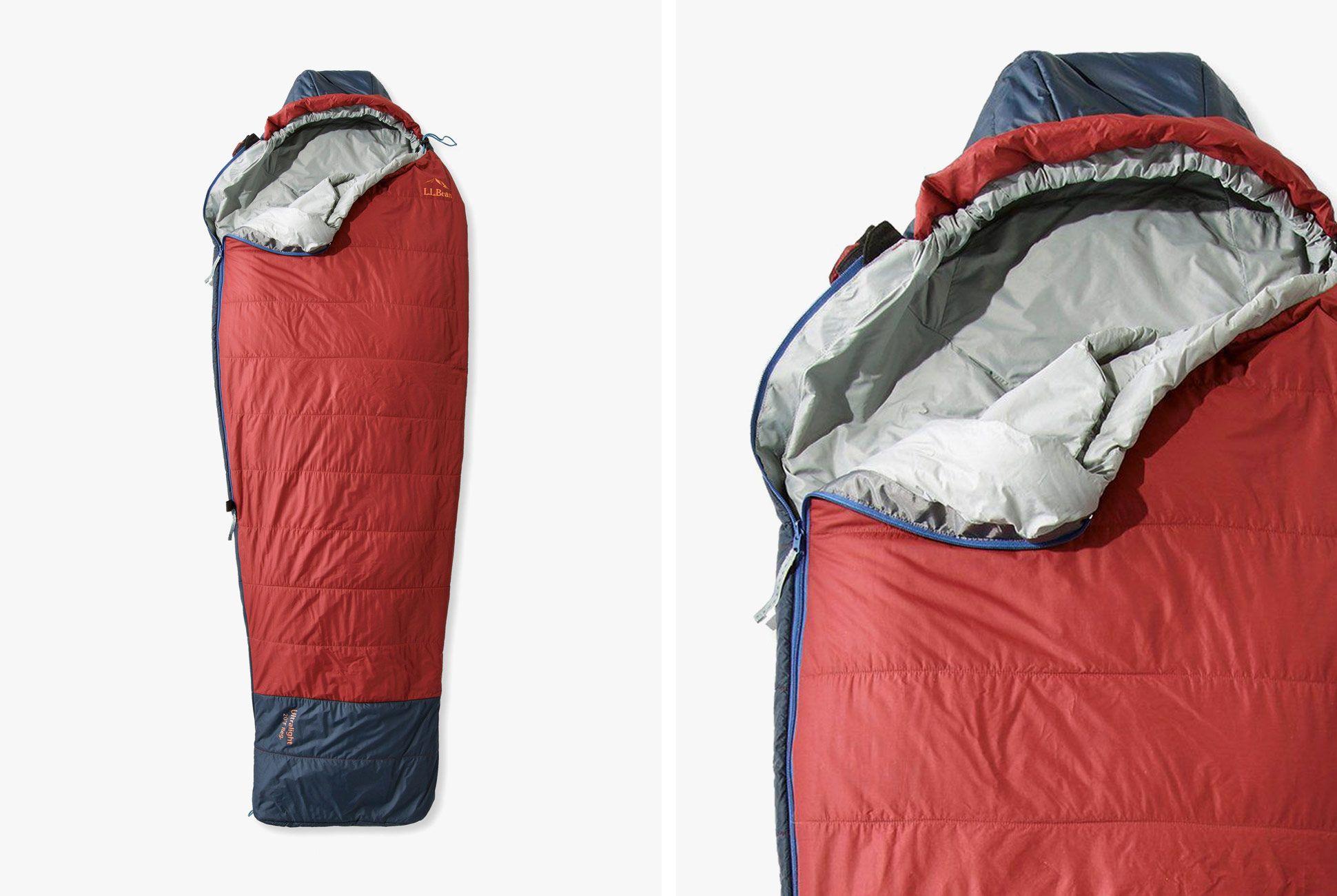 L Bean Ultralight Sleeping Bag Uses E Insulation