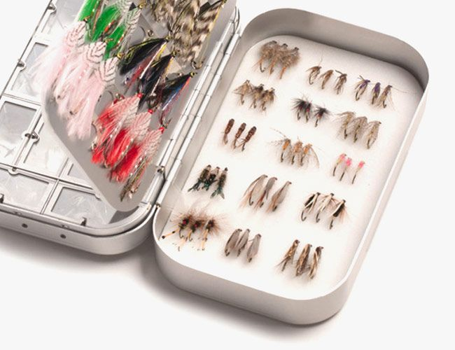 Splurge on This Beautiful Fly Box With 111 Hand-Tied Flies
