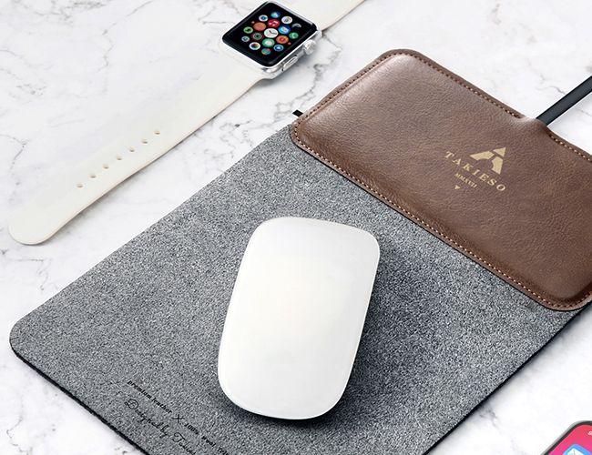 Declutter Your Workspace with a Wool, Wireless Charger Mouse Pad