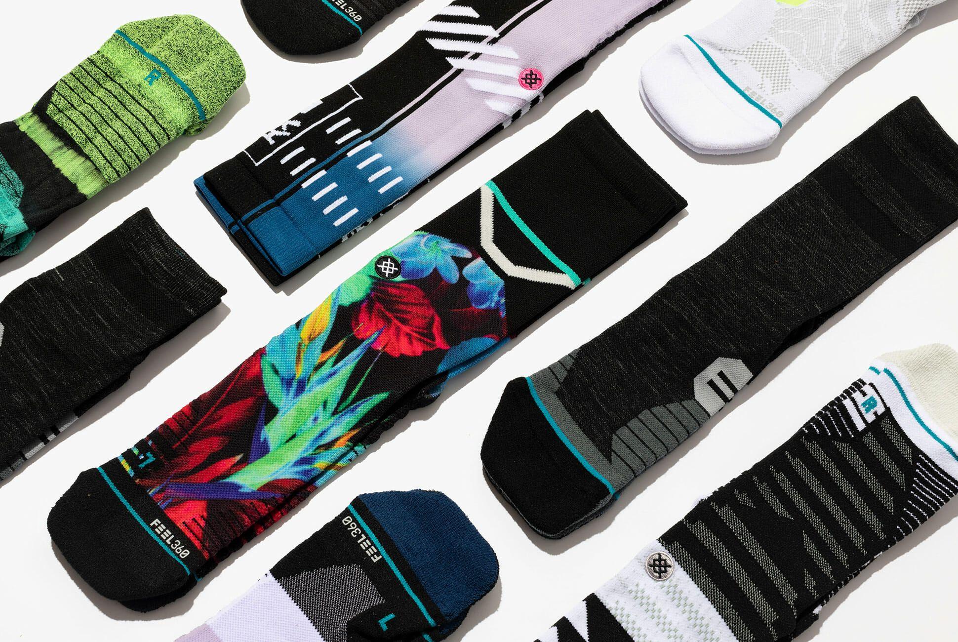 Protect Wrist For Cycling Moisture Control Elastic Sock Tube Socks Mango Juice Athletic Soccer Socks