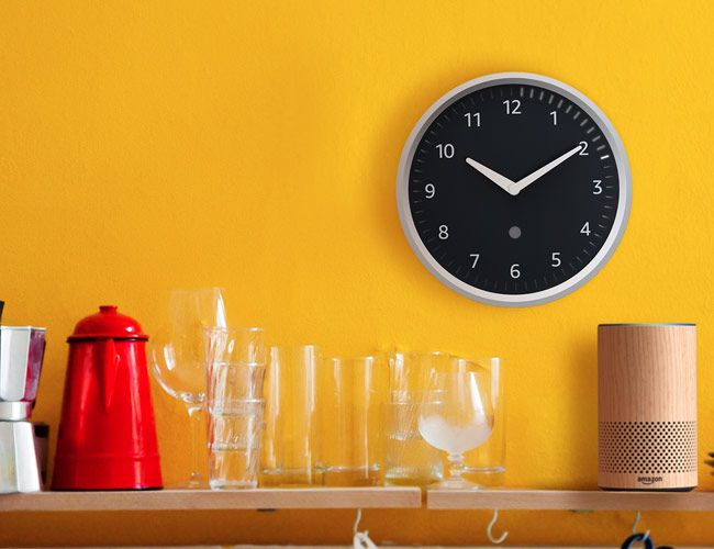Amazon Adds Smart Functionality to an Otherwise Classic Wall Clock