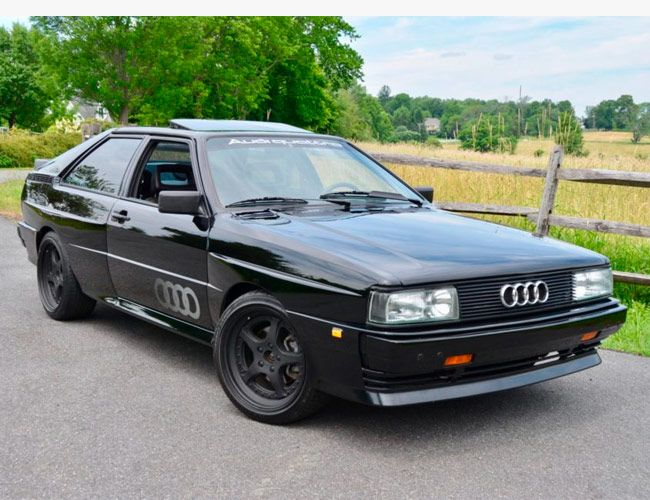 This Murdered Out Audi Quattro Is the Best Alternative to an Original M3