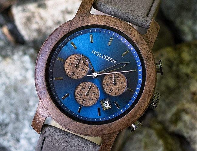 Holzkern Makes One-of-a-Kind Watches from Wood and Stone