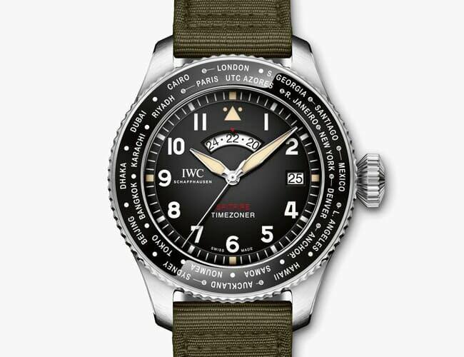 "IWC's Timezoner Spitfire Edition ""Longest Flight"" Is a True Purpose-Built Pilot's Watch"