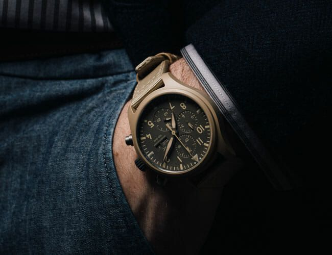 This IWC Chronograph Fuses Military Cool and Serious Watchmaking
