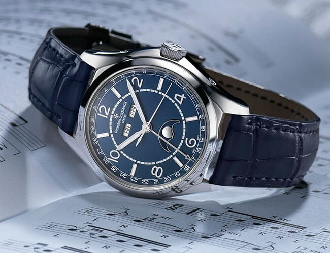 One of Our Favorite New Watches from Vacheron Constantin's Fiftysix Collection Gets a Cool Blue New Look