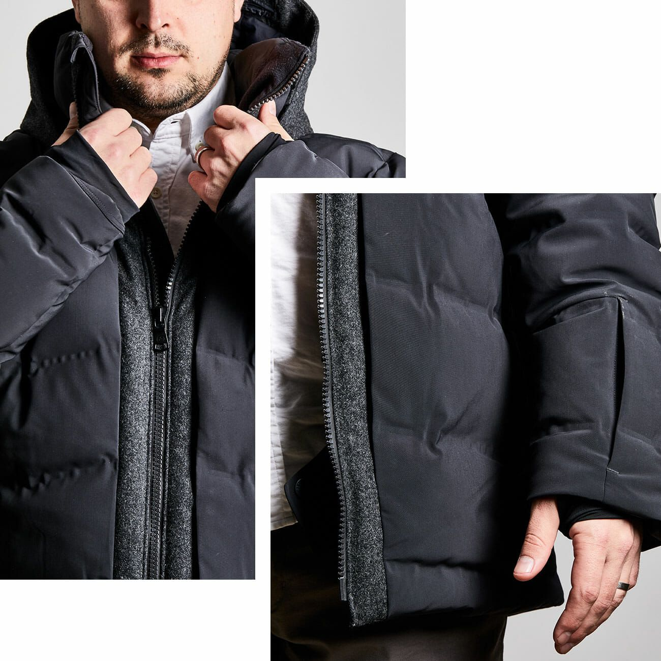 Sweatwater Mens Stand Collar Button Quilted Classic Fleece Thicken Jacket Anoraks Parka Coat